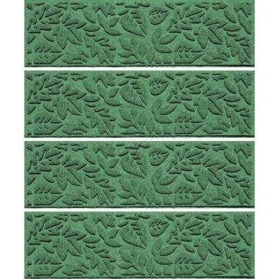 Light Green 8.5 in. x 30 in. Fall Day Stair Tread Cover (Set of 4)