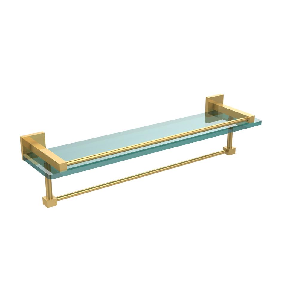 Glass shelving bathroom - Allied Brass Montero 22 In L X 5 1 4 In H