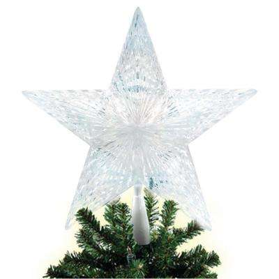 Battery Operated LED Pentagram Star Tree Topper