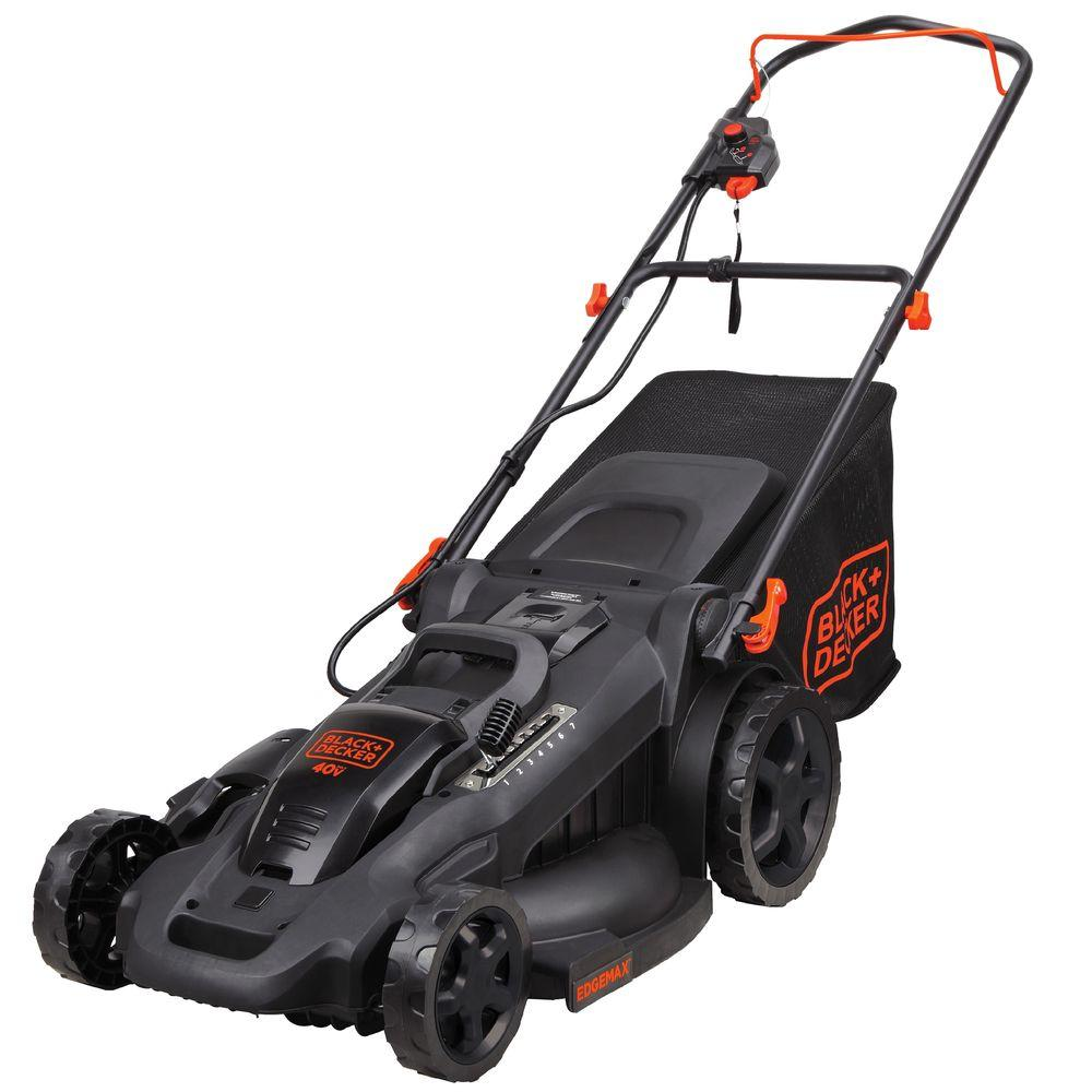 BLACK+DECKER 20 in. 40-Volt MAX Lithium-Ion Cordless Walk Behind Push Lawn Mower - Two 2.0 Ah Batteries/Charger Included
