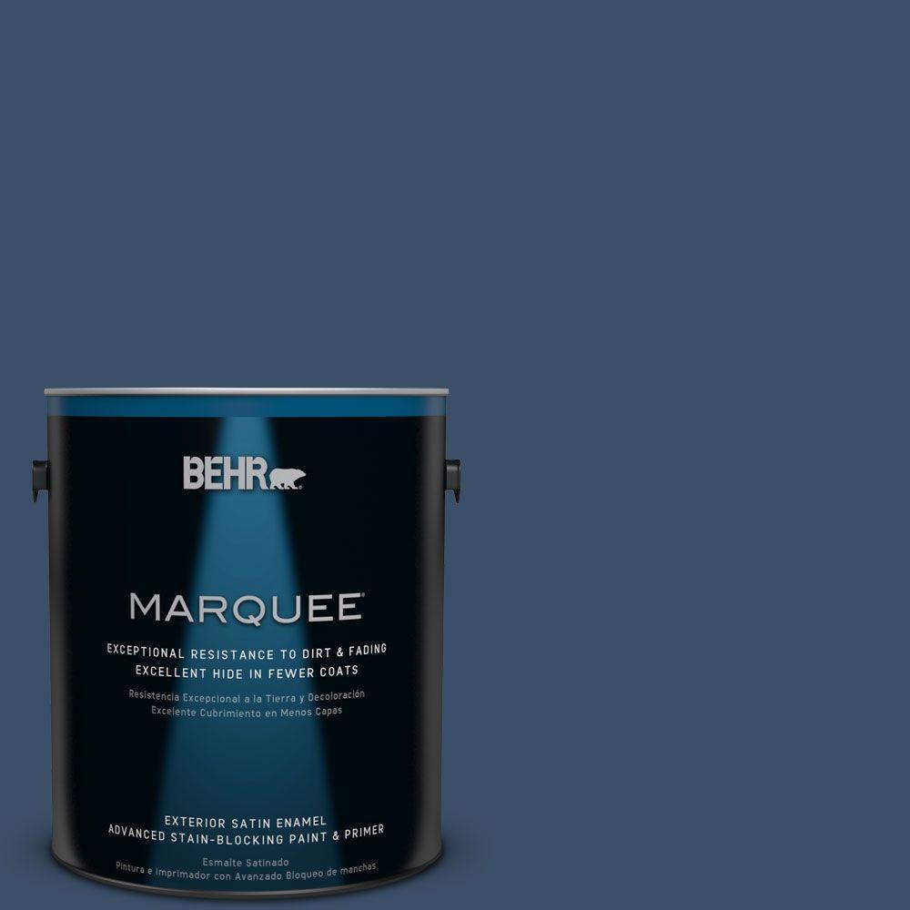BEHR MARQUEE 1-gal. #M510-7 Inked Satin Enamel Exterior Paint