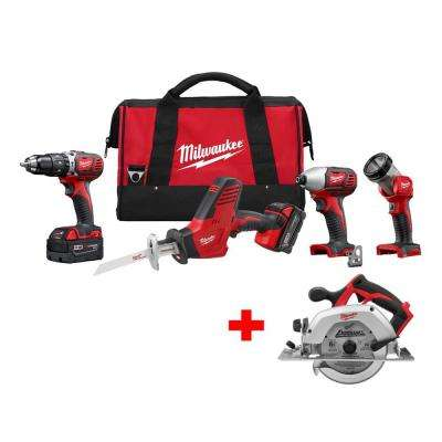 M18 18-Volt Lithium-Ion Cordless Combo Kit (4-Tool) with Free M18 6-1/2 in. Circular Saw