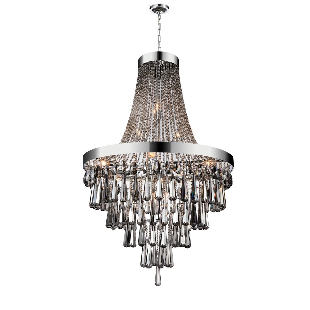 Cwi Lighting Vast 17 Light Chrome Chandelier