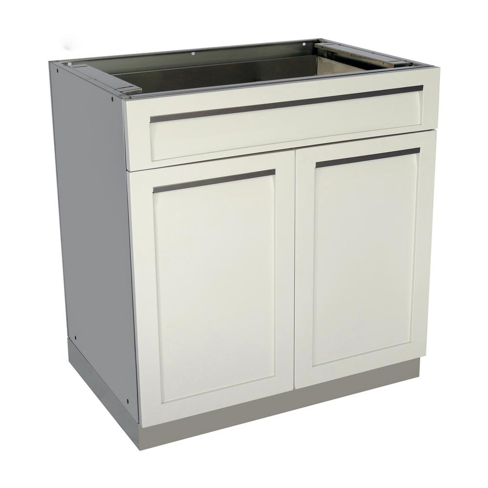 4 life outdoor stainless steel drawer plus 32x35x22 5 in for Metal cabinet doors kitchen