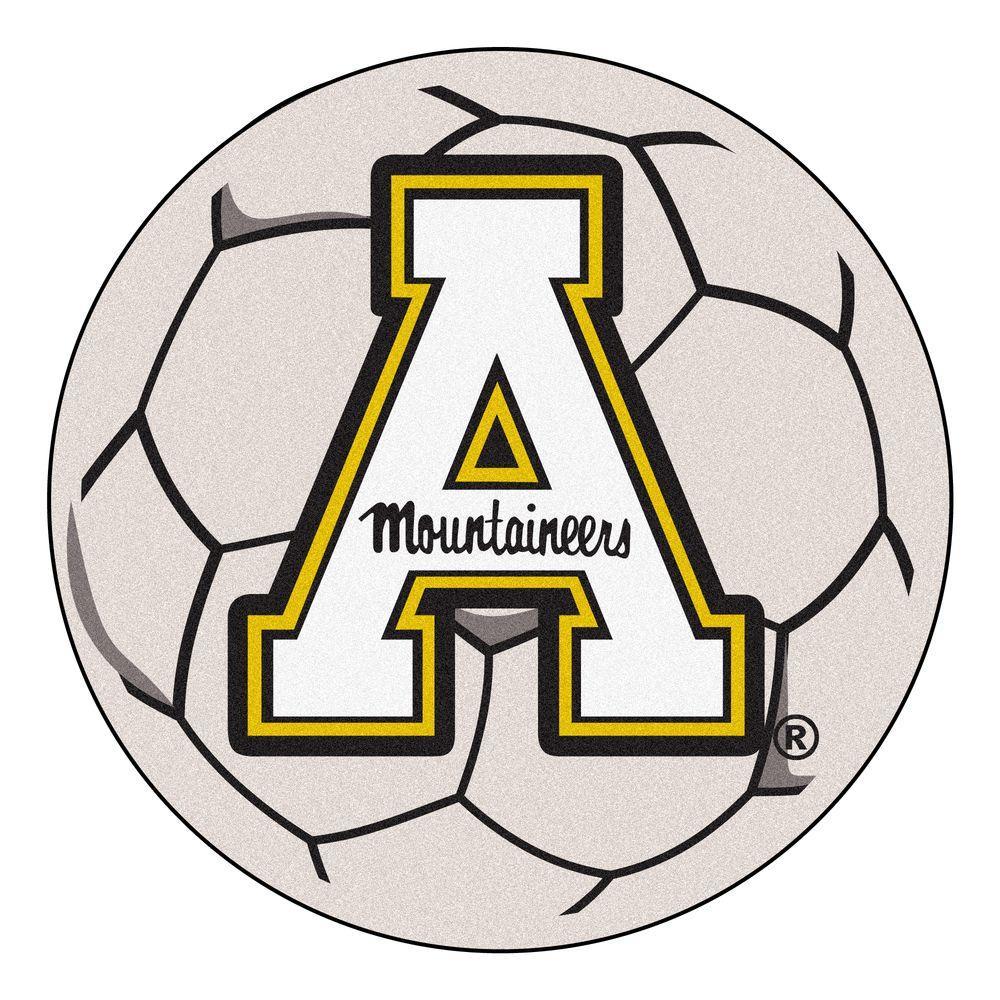 NCAA Appalachian State University Cream 2 ft. x 2 ft. Round Area Rug