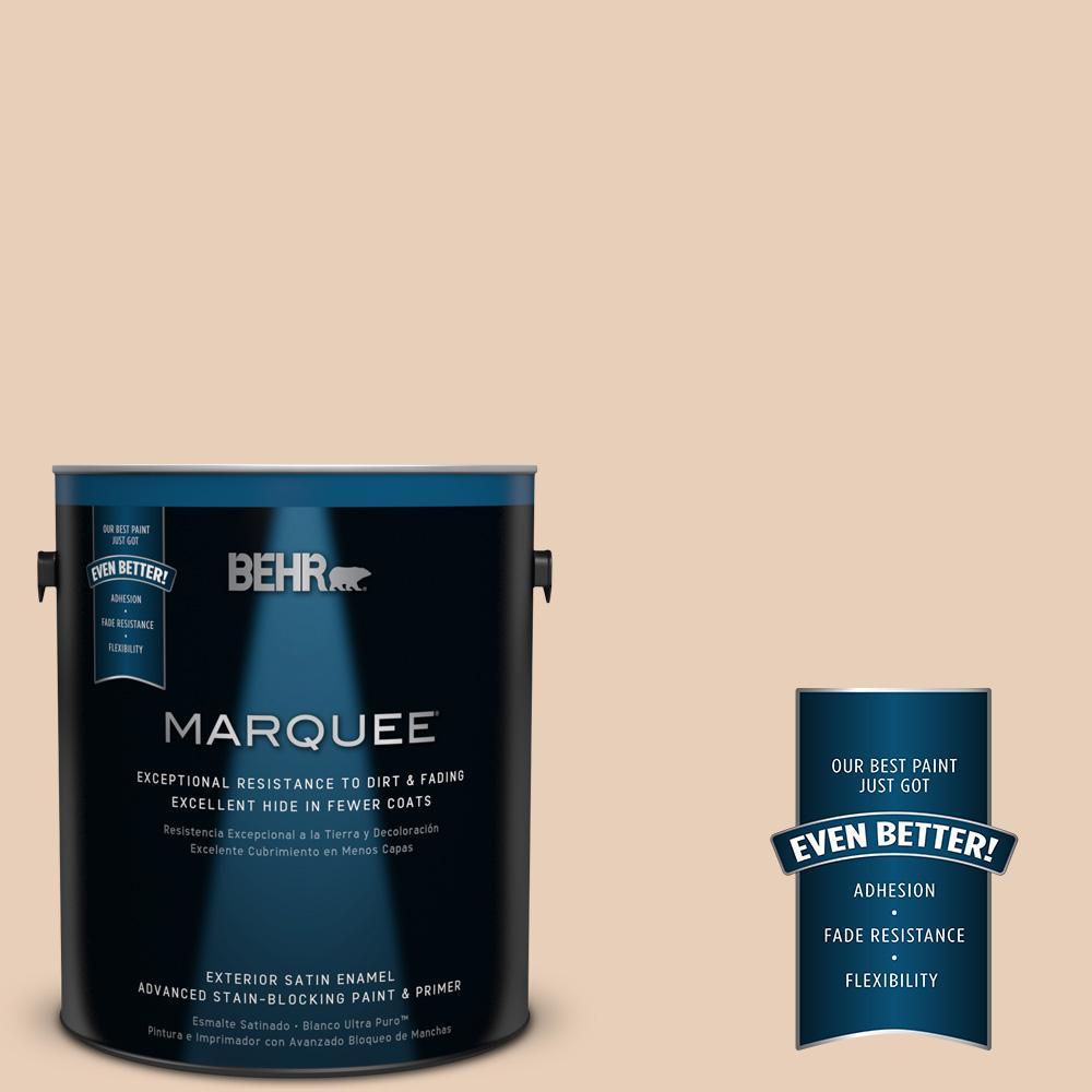 BEHR MARQUEE 1-gal. #S230-1 Buff Tone Satin Enamel Exterior Paint