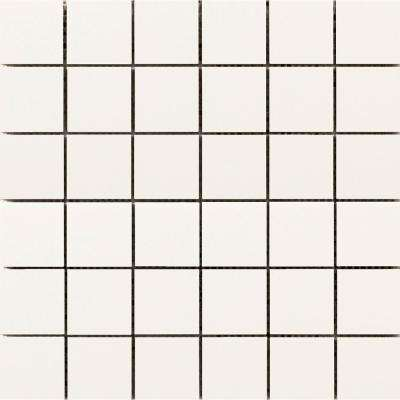 Choice Bone 12.05 in. x 12.09 in. x 8mm Ceramic Mesh-Mounted Mosaic Tile