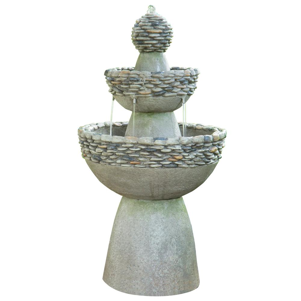 Peaktop Polyresin 3 Tier Garden Fountain