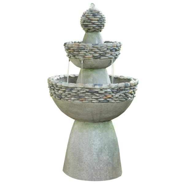 Polyresin 3 Tier Garden Fountain