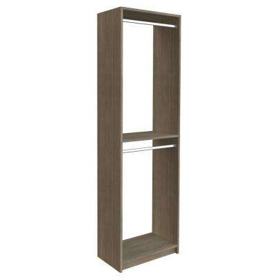 14 in. D x 25.375 in. W x 84 in. H Coastal Haven Double Hanging Tower Wood Closet System Kit
