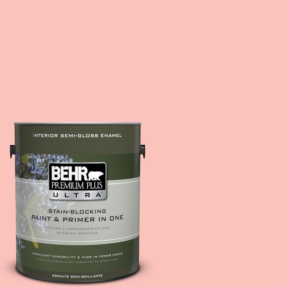 BEHR Premium Plus Ultra 1-gal. #170C-3 Coral Bells Semi-Gloss Enamel Interior Paint