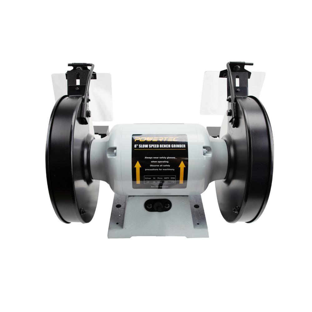 POWERTEC BGSS801 Slow Speed Bench Grinder 8