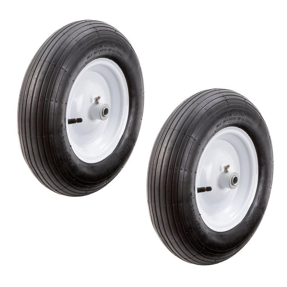 Farm & Ranch 16 in. Pneumatic Wheelbarrow Tire (2-Pack)