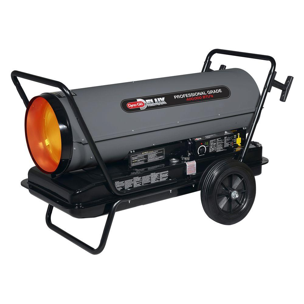 Dyna-Glo Delux 400K BTU Forced Air Kerosene Portable Heater with Thermostat