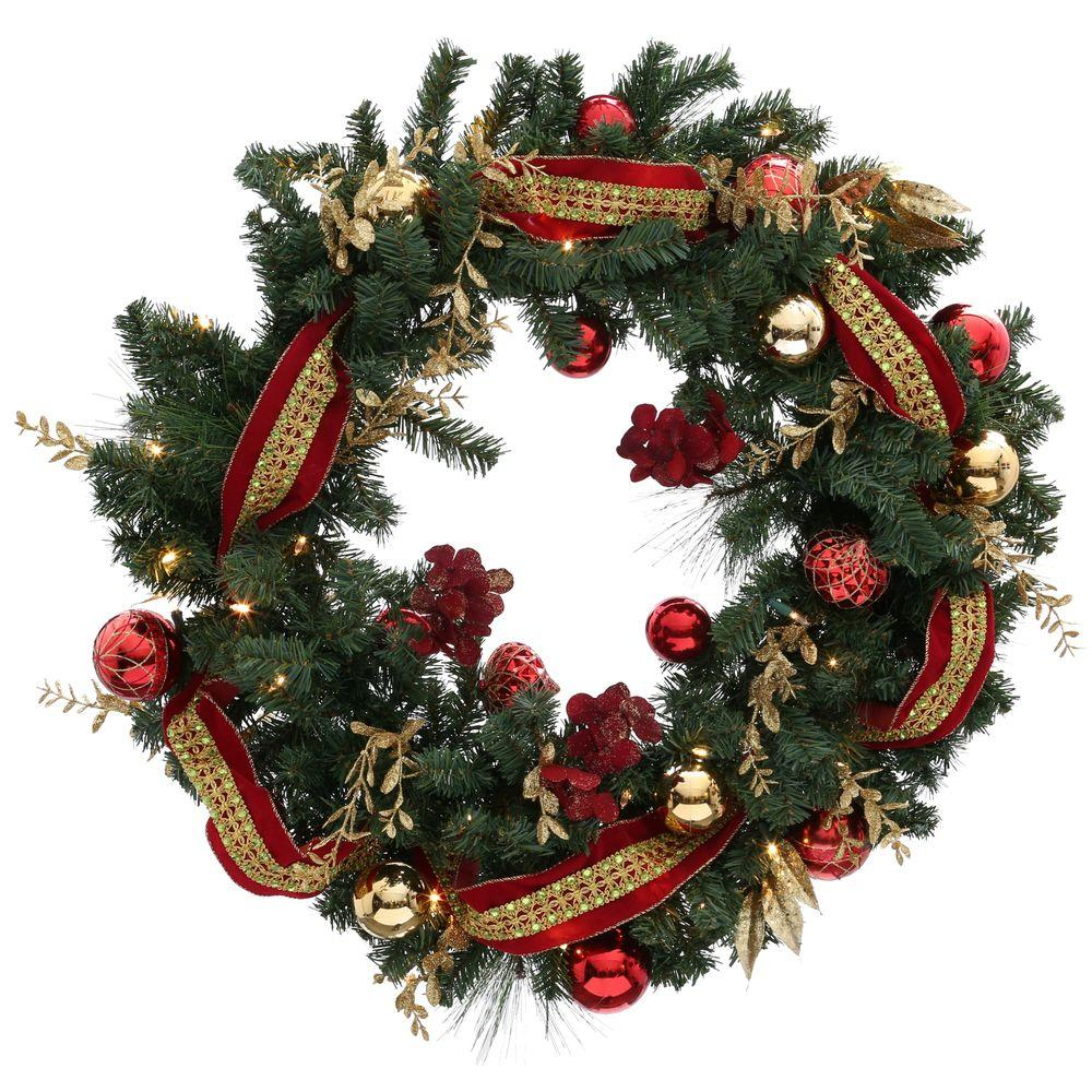 Home accents holiday 36 in battery operated plaza for How to make christmas door wreaths