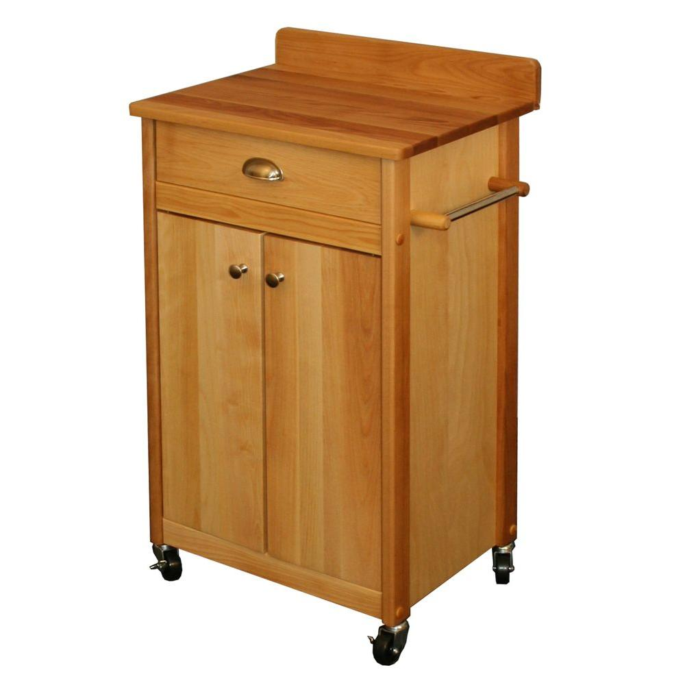 Catskill Craftsmen Natural Kitchen Cart with Towel Bar