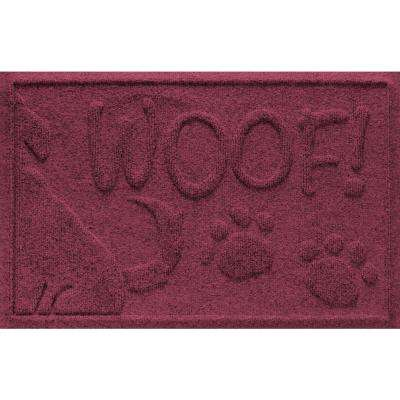 Bordeaux 18 in. x 28 in. Wag the Dog Polypropylene Pet Mat