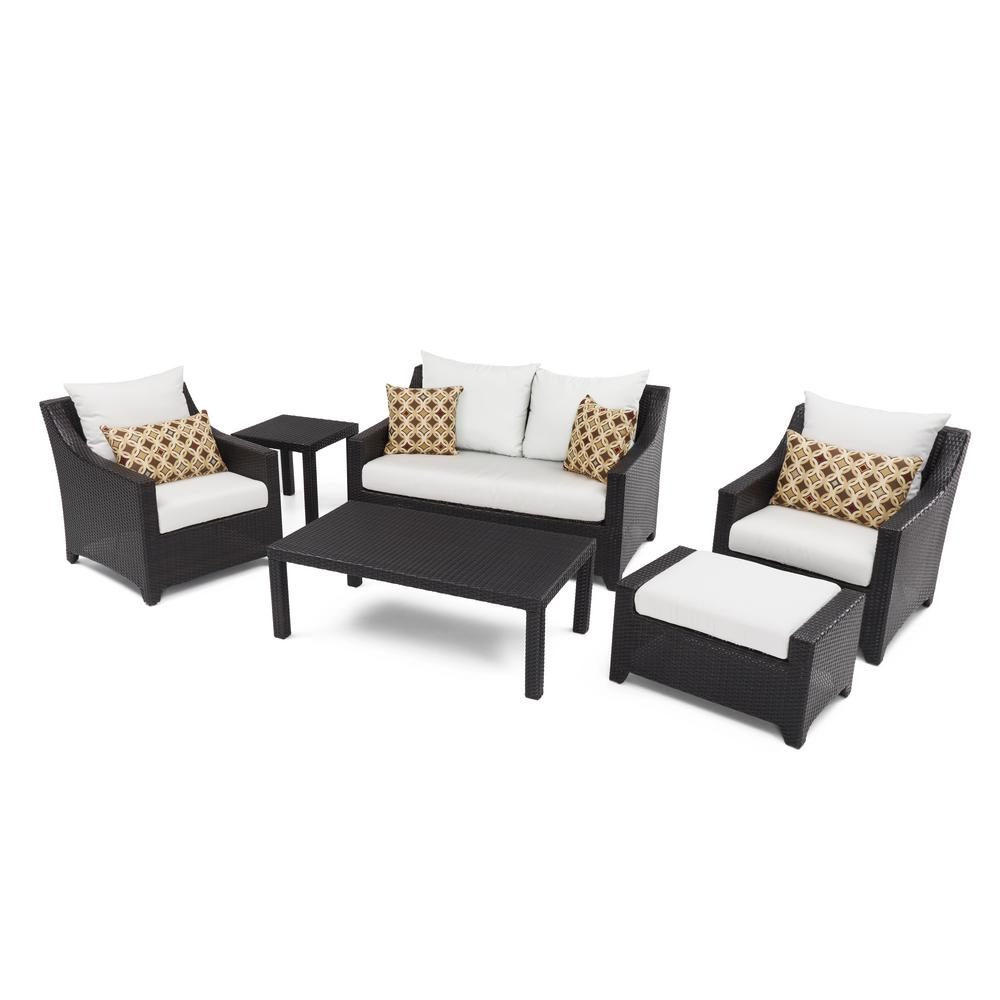 Rst Brands Deco 6 Piece Love And Club Patio Deep Seating Set With Moroccan Cream