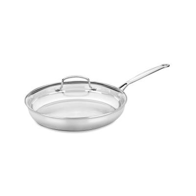 Chef's Classic 12 in. Stainless Steel Stovetop Skillets with Glass Lid
