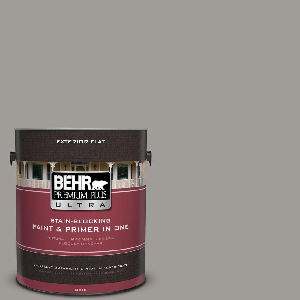 1-gal. #BNC-17 Casual Gray Flat Exterior Paint