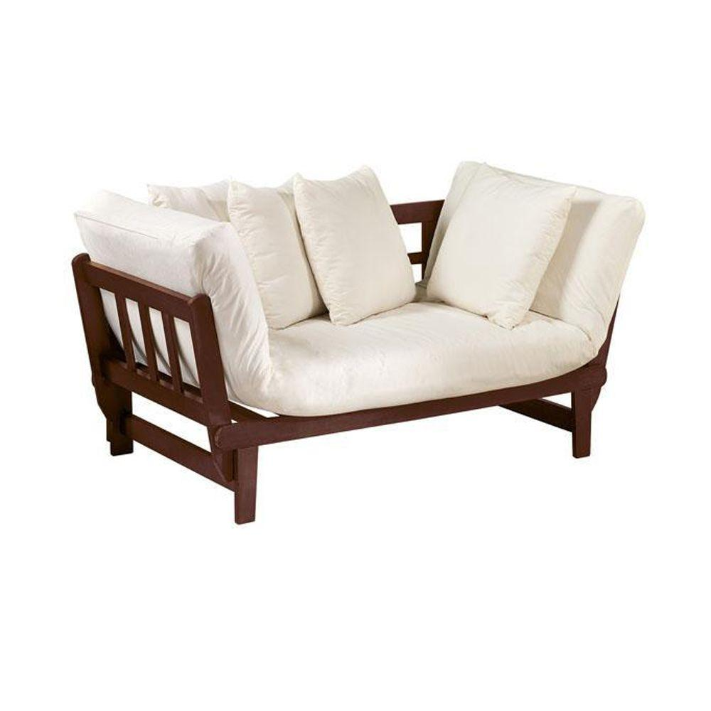 Home Decorators Collection Mission Style Natural Convertible Lounge in Chestnut