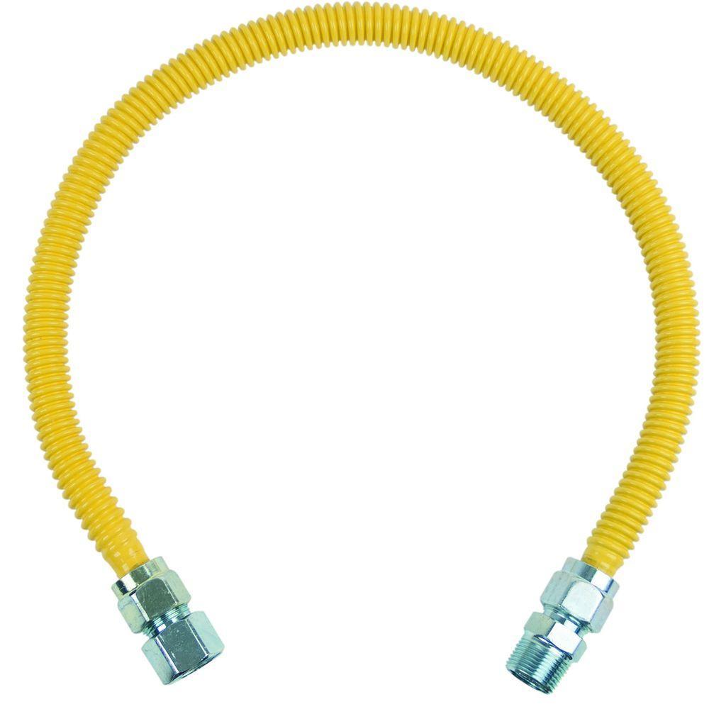 BrassCraft ProCoat 3/4 in. FIP x 3/4 in. MIP x 30 in. Stainless Steel Gas Connector 5/8 in. O.D. (136,000 BTU)