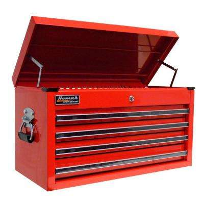 Professional 27 in. 4-Drawer Top Chest, Red