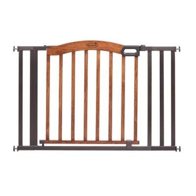 Decorative Wood and Metal 32 in. Pressure Mounted Gate