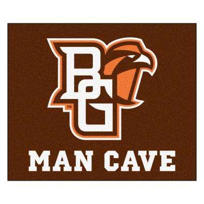 NCAA - Bowling Green State University Brown 4 ft. 11.5 in. x 5 ft. 11 in. Indoor/Outdoor Tailgater Mat