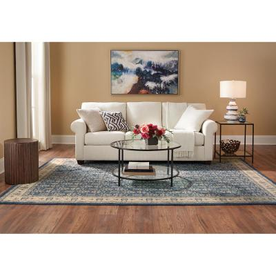 Teal Area Rugs The Home Depot, 4×6 Rug Under Queen Bed