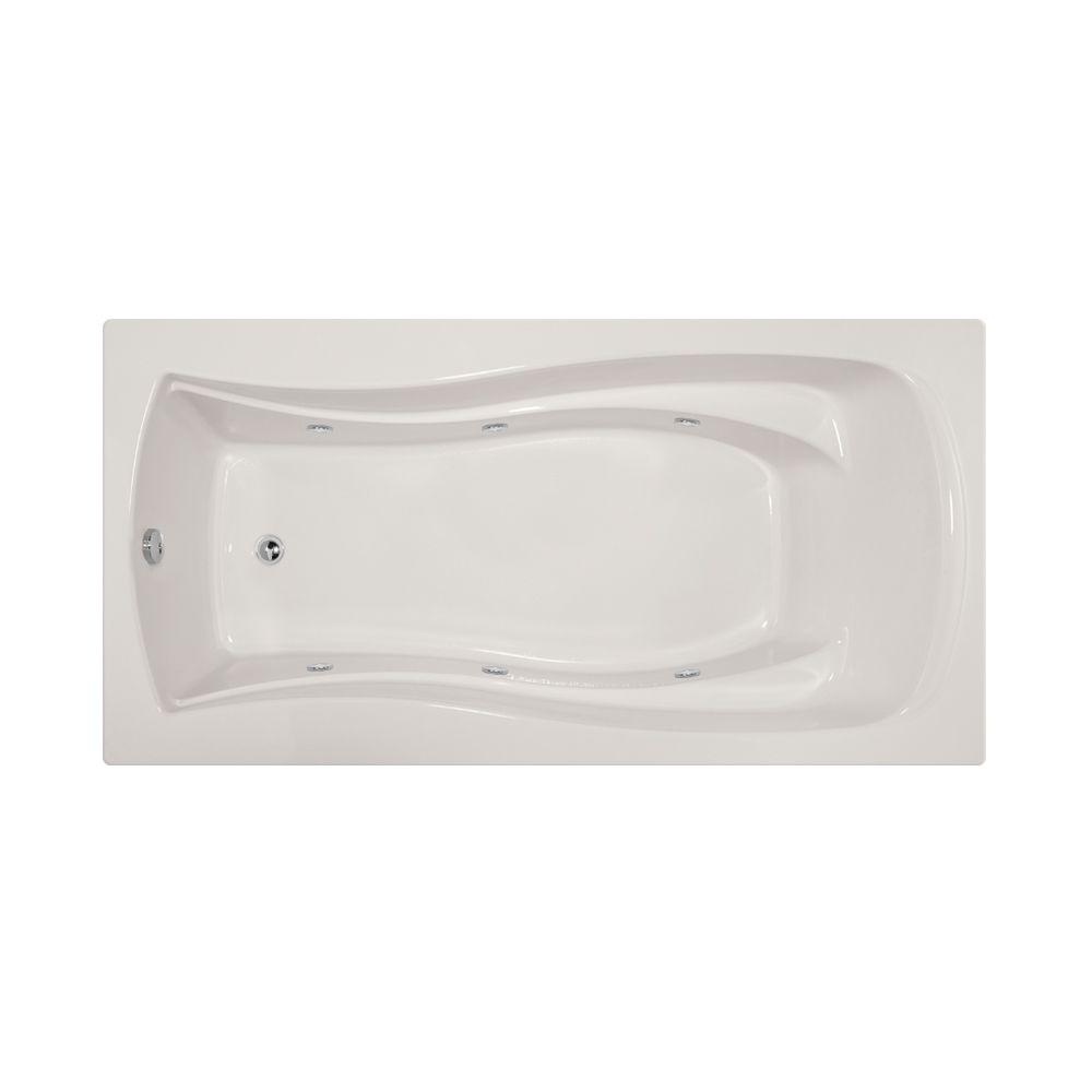 Charlotte 6 ft. Reversible Drain Whirlpool Tub in White