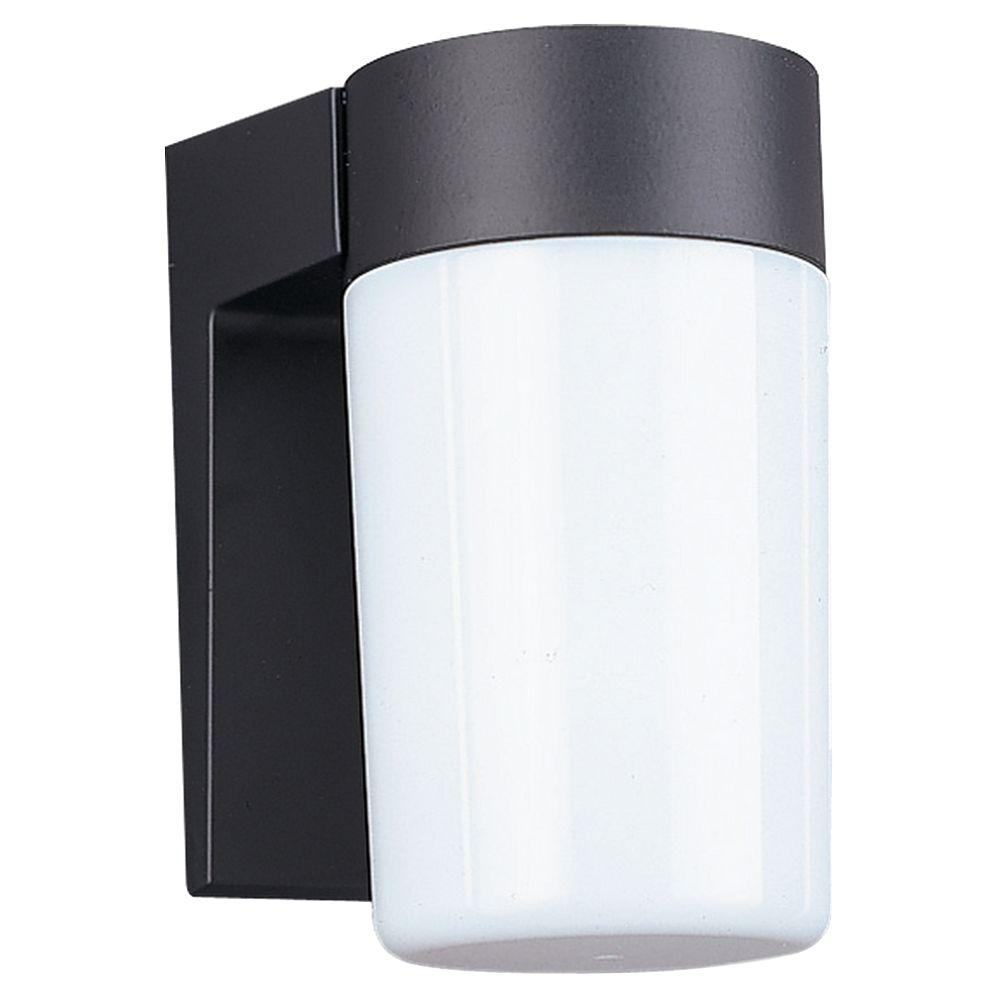 Sea Gull Lighting Wall Mount 1-Light Outdoor Black Fixture