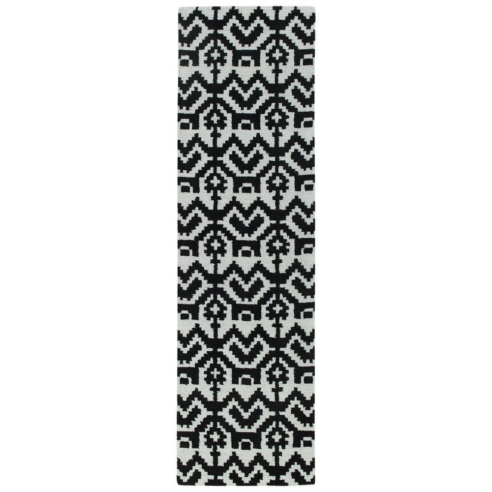 Kaleen Lakota Black 2 ft. x 8 ft. Runner Rug