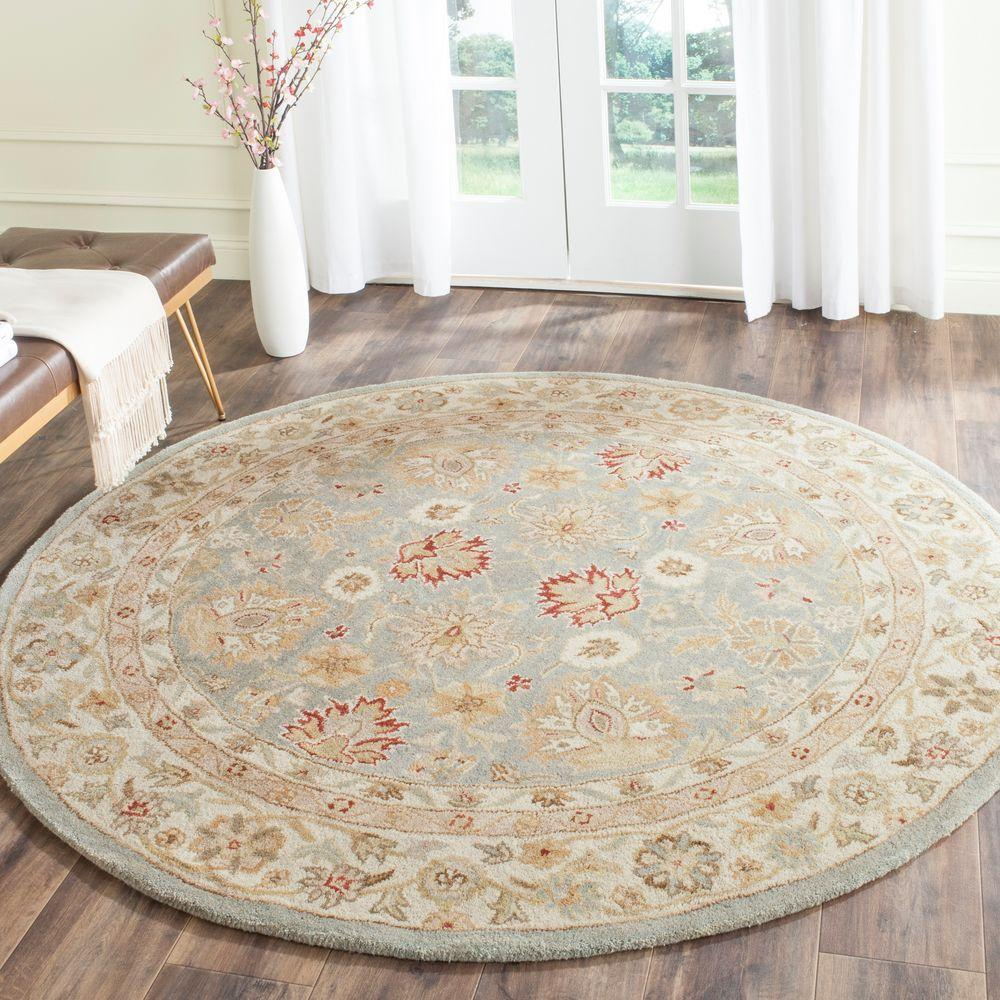 Antiquity Grey Blue/Beige 3 ft. 6 in. x 3 ft. 6