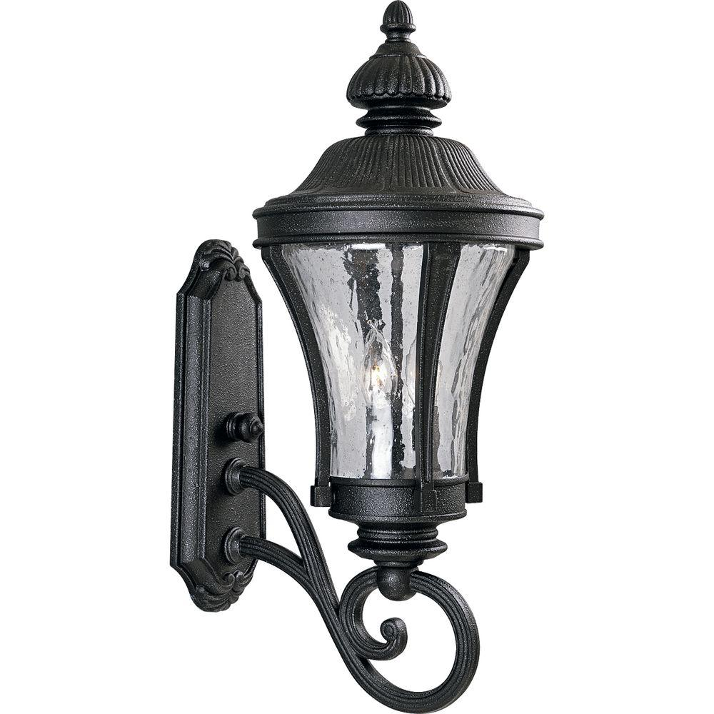 Progress Lighting Nottington Collection Gilded Iron 3-Light 24.5 in. Outdoor Wall Lantern Sconce