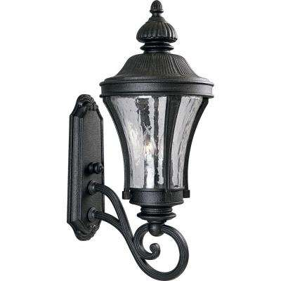 Nottington Collection Gilded Iron 3-Light 24.5 in. Outdoor Wall Lantern Sconce