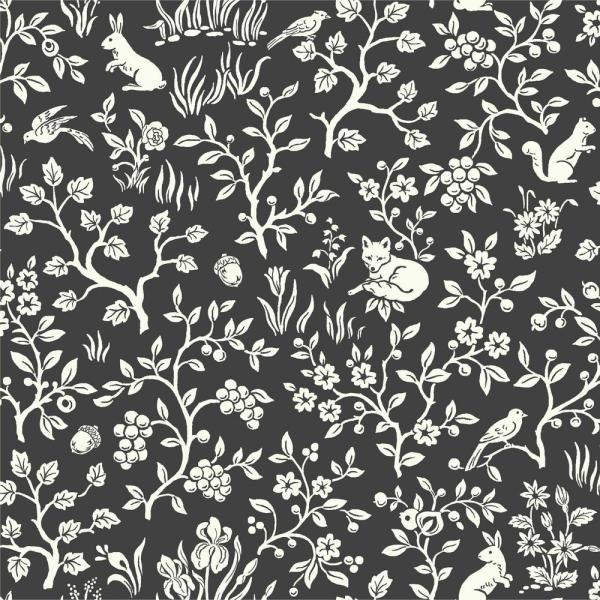 56 sq.ft. Fox and Hare Wallpaper
