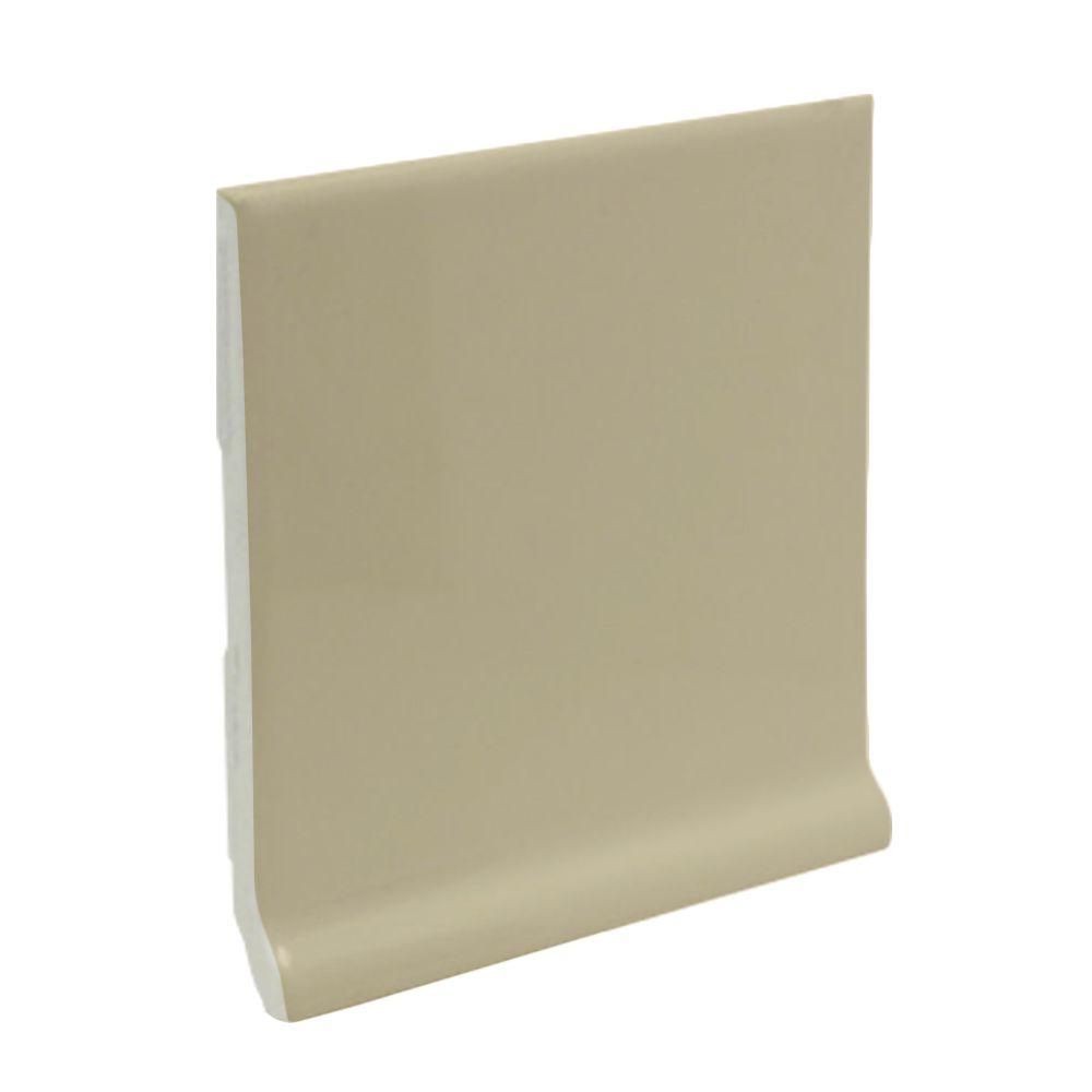 U.S. Ceramic Tile Bright Fawn 6 in. x 6 in. Ceramic Stackable /Finished Cove Base Wall Tile-DISCONTINUED
