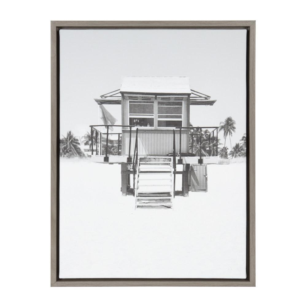 "Sylvie ""Lifeguard Tower"" by Golie Framed Canvas Wall Art"