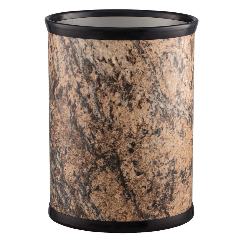 13 Qt. Russet Stone Oval Waste Basket