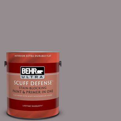 1 gal. #T18-03 Graylac Extra Durable Flat Interior Paint and Primer in One