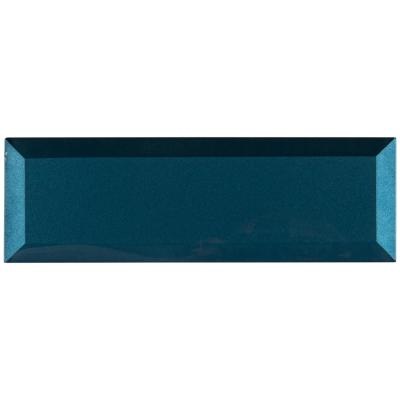 Tahiti Blue Beveled 2.5 in. x 8 in. x 8mm Glossy Glass Blue Subway Tile (5.6 sq. ft. / case)