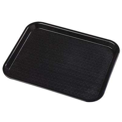 10.75 in. x 13.87 in. Polypropylene Serving/Food Court Tray in Black (Case of 24)
