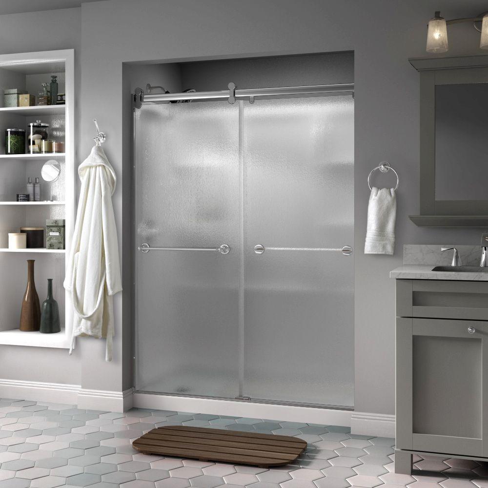 Great Delta Silverton 60 In. X 71 In. Semi Frameless Contemporary Sliding Shower  Door