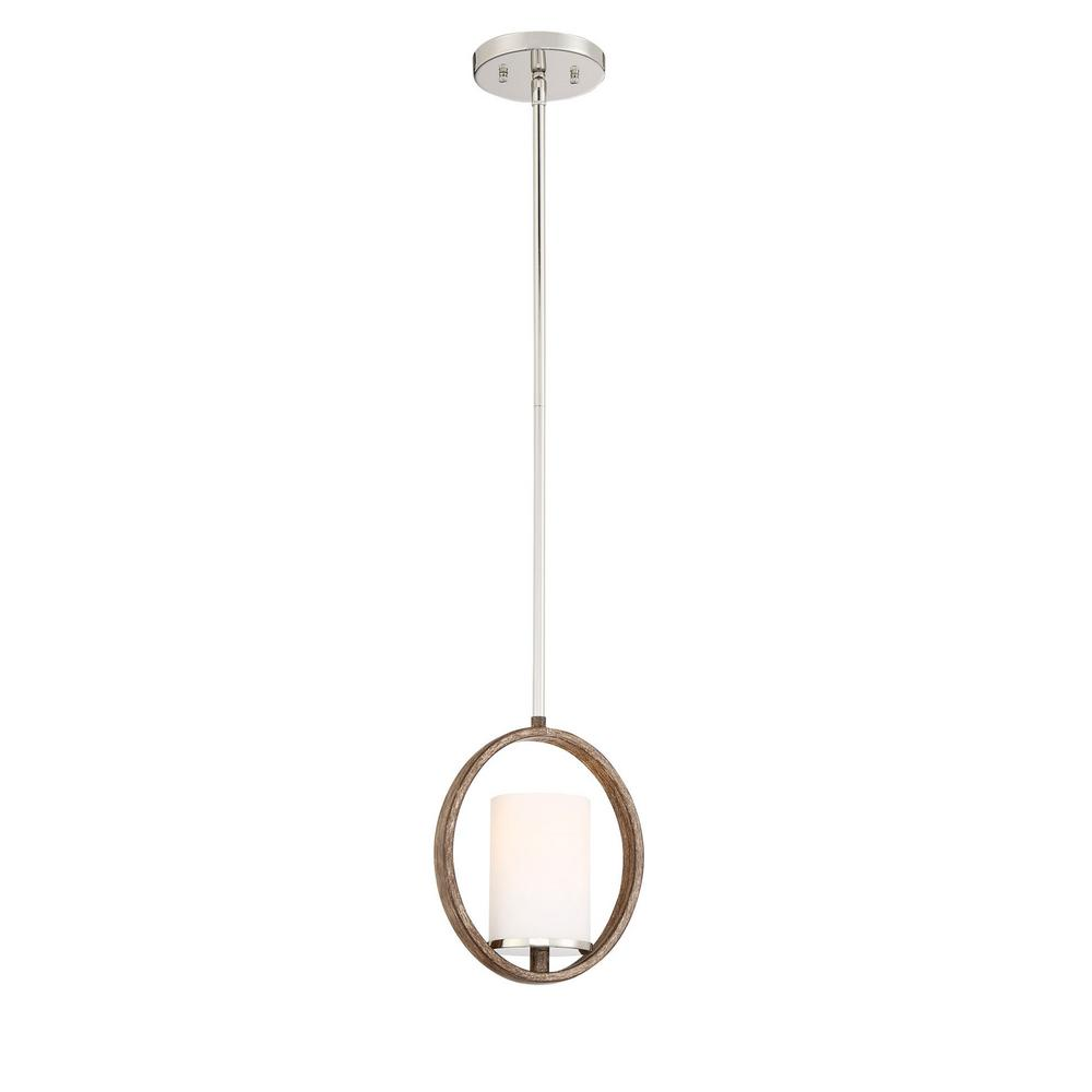 Home decorators collection 1 light polished nickel corona bronze mini pendant 27161 the home Home decorators collection mini pendant