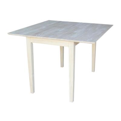 Unfinished Dual Drop Leaf Dining Table