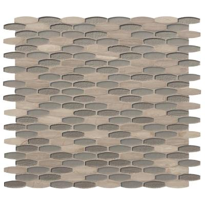 Ellipse Gris 12 in. x 12 in. x 8mm Glass Stone Mesh-Mounted Mosaic Tile (10 sq. ft. / case)