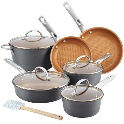 Home Collection 11-Piece Hard Anodized Aluminum Cookware Set