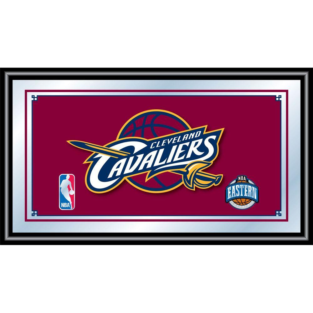 null Cleveland Cavaliers NBA 15 in. x 26 in. Black Wood Framed Mirror