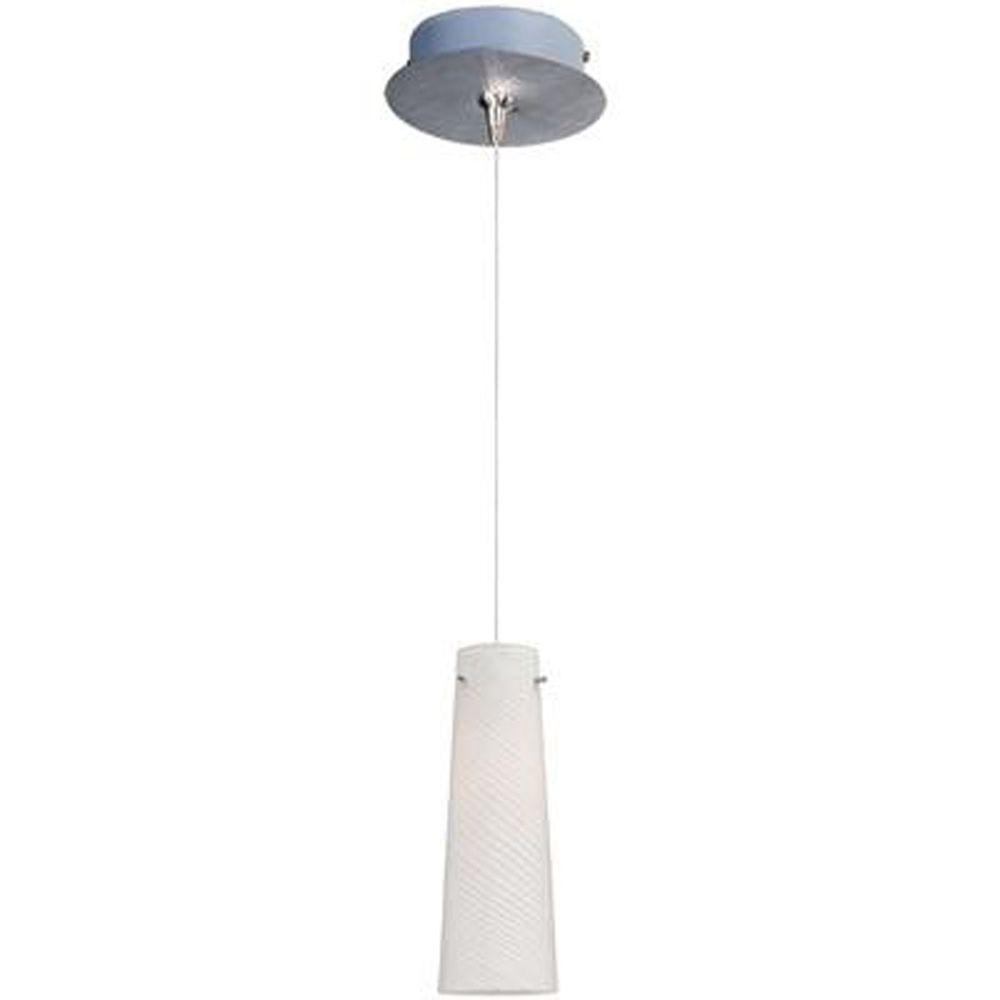 null Sprial 1-Light Satin Nickel RapidJack Pendant and Canopy